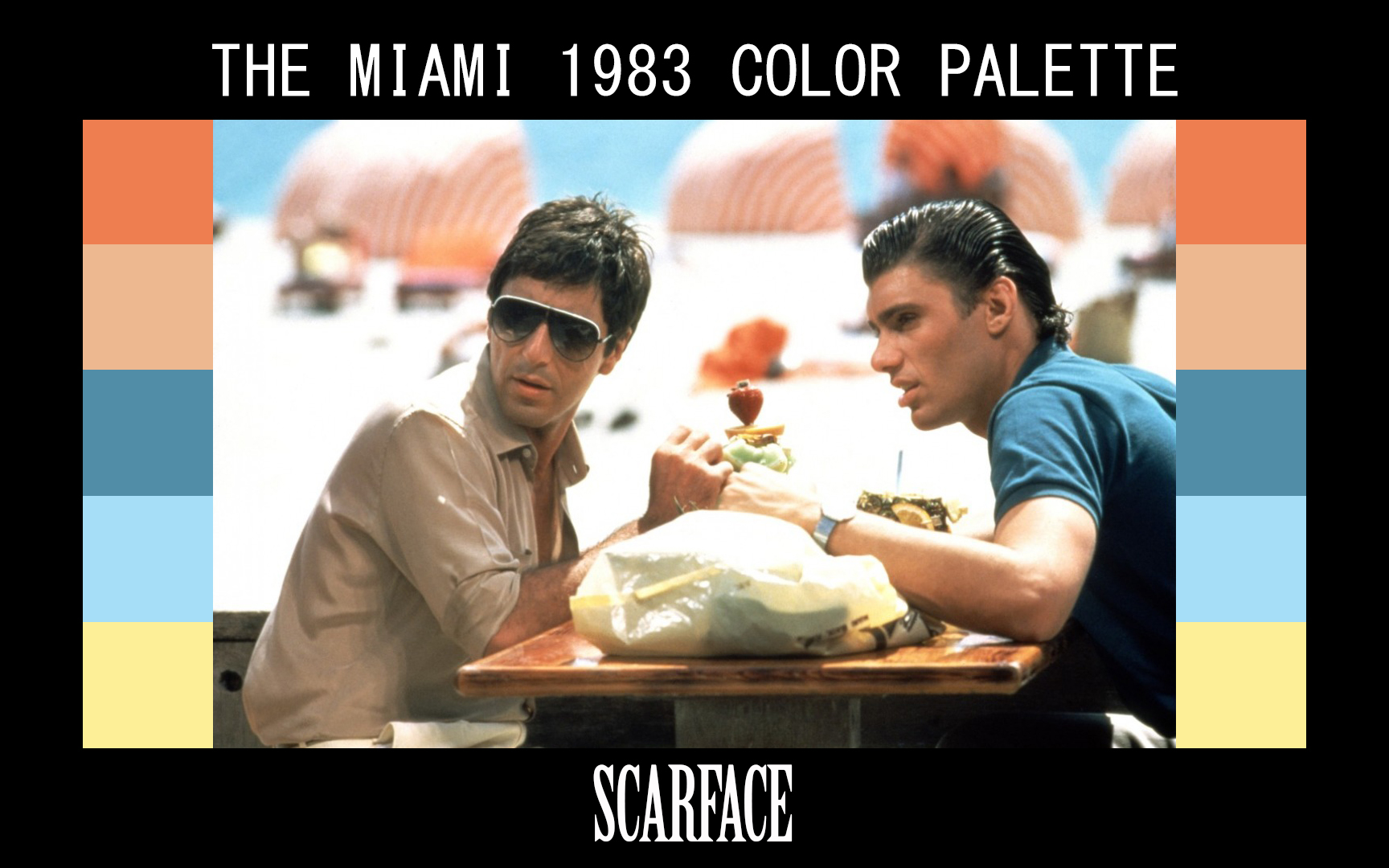 SCARFACE COLOR GRADING PALETTE