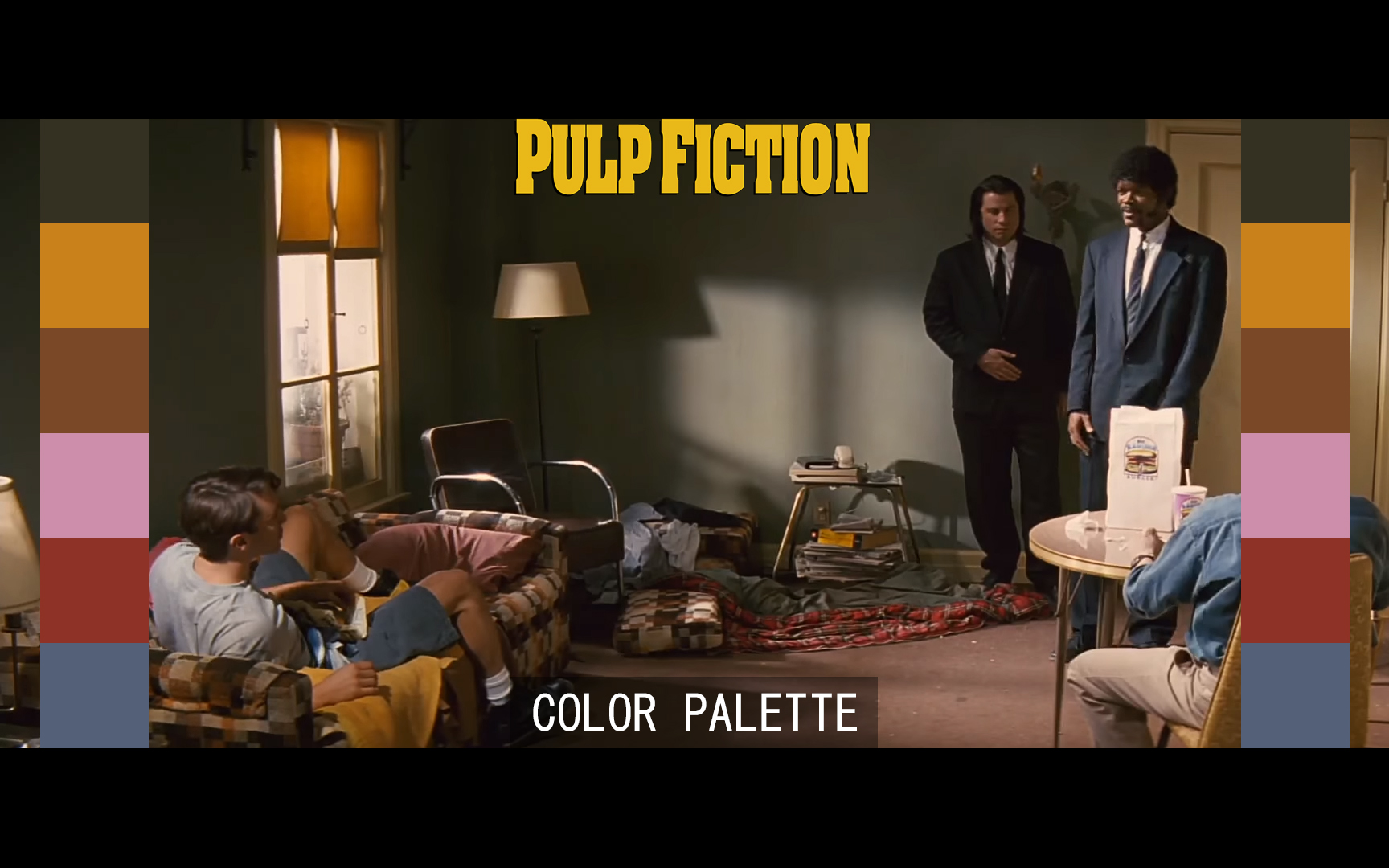 PULP FICTION COLOR GRADING PALETTE