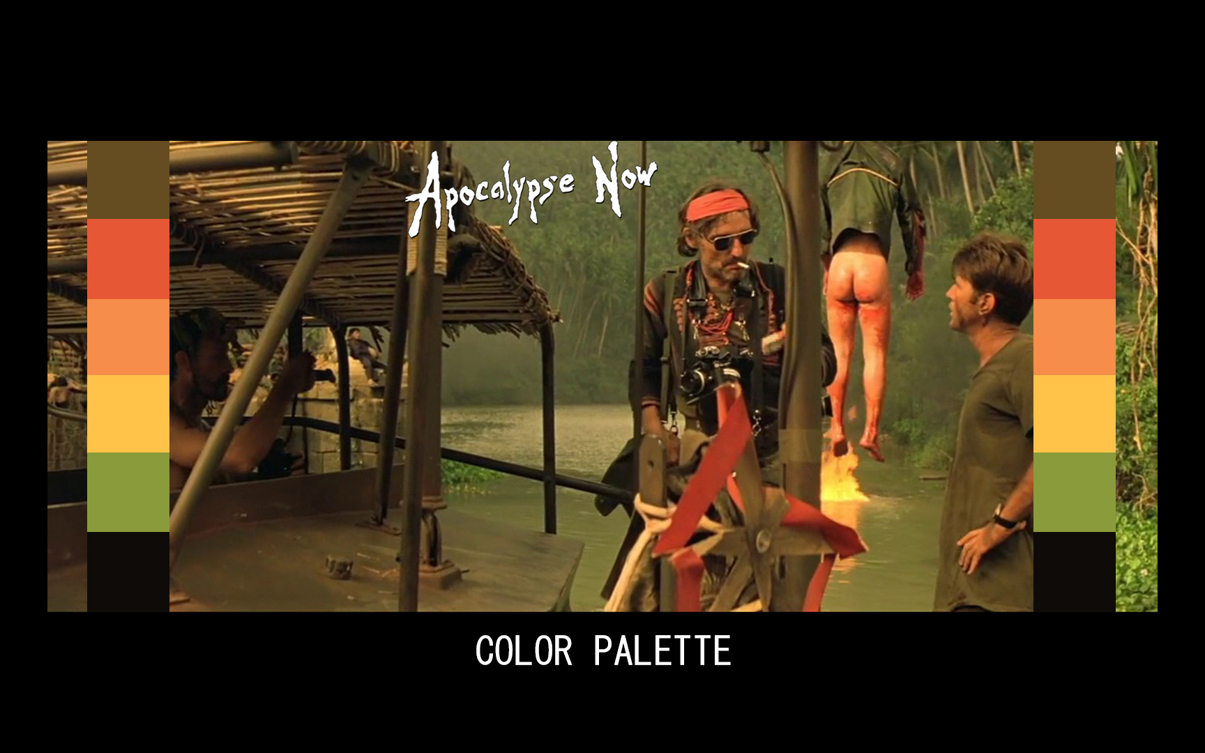 APOCALYPSE NOW COLOR GRADING PALETTE